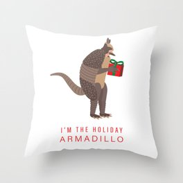 I'm the Holiday Armadillo - Ross Friends TV Seri Throw Pillow
