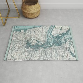 Puget Sound Map Rug