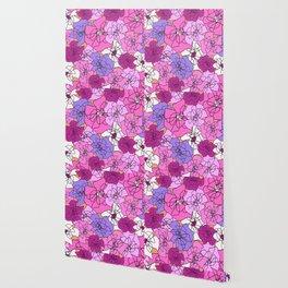 Summer Peony Garden Wallpaper
