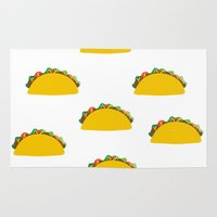 taco Area & Throw Rugs featuring Taco  by Beautiful Artworks