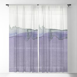 Serene Moments 02 by Kathy Morton Stanion Sheer Curtain