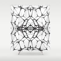 dna Shower Curtains featuring DNA by kartalpaf