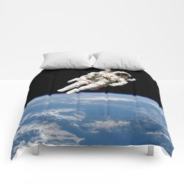Astronaut Floating Free Comforters