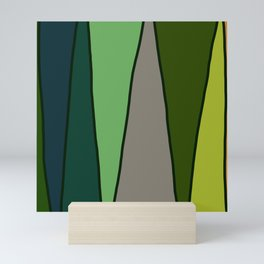 Green Abstract Pattern Turtle Mini Art Print