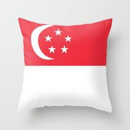 Singapore Flag Singaporean Patriotic Throw Pillow