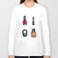 makeup Long Sleeve T-shirts featuring Makeup is my art by Natalie Murray