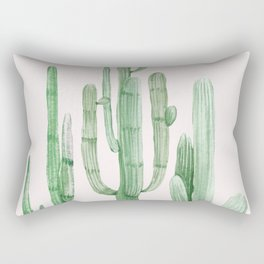 Three Amigos Pink + Green Rectangular Pillow