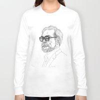 hayao miyazaki Long Sleeve T-shirts featuring Hayao Miyazaki by Andy Christofi