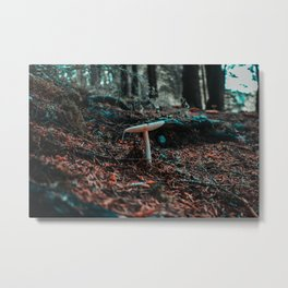 Mushroom in the forest Metal Print