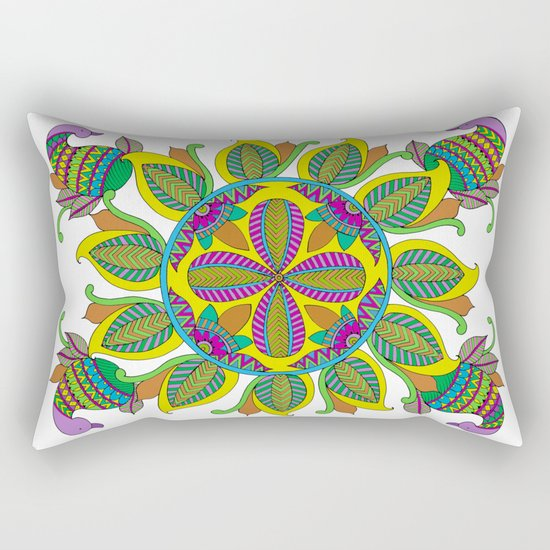 Geometric Shape Series - Circle Rectangular Pillow
