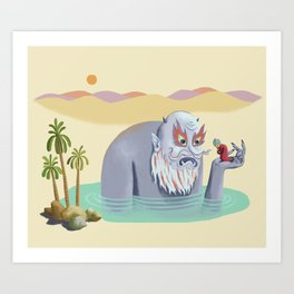 The Merchant and the Genie Art Print