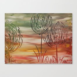Floral Etching Canvas Print