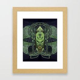 Green Tiki Framed Art Print