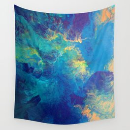 Gilded Peacock: Deep Diving Wall Tapestry