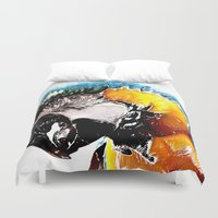 parrot Duvet Covers featuring Parrot by Regan's World