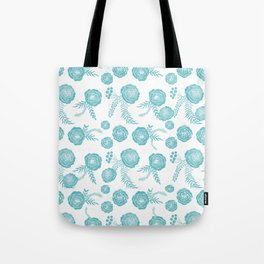 Peony Pattern Island Paradise Tote Bag