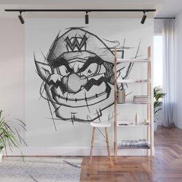 Wario Handmade Drawing, Games Art, Super Mario, Nintendo Art Wall Mural
