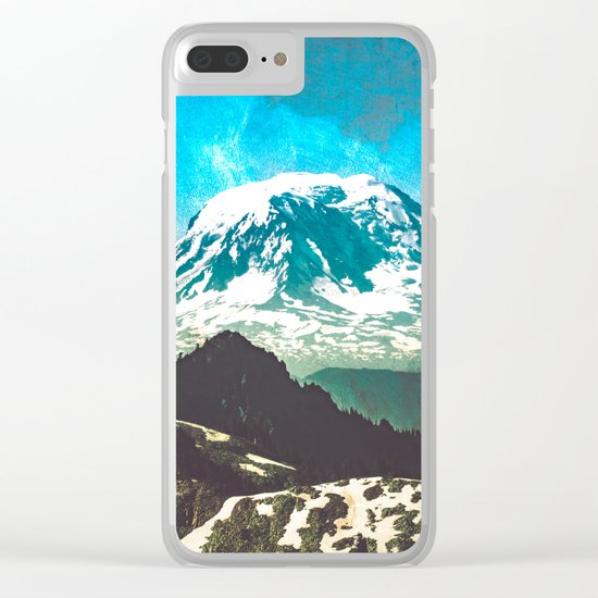 Mt Adams from Mt Rainier Washington State Clear iPhone Case