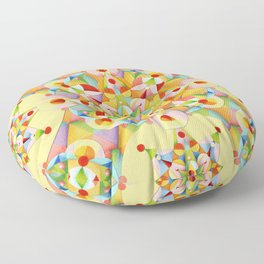 Pastel Mandala Rainbow Floor Pillow
