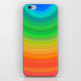 Rainbow Smile Colored Circles Summer Pattern iPhone Skin