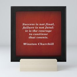 Winston Churchill Success Quote - Corbin Henry - Famous Quotes Mini Art Print