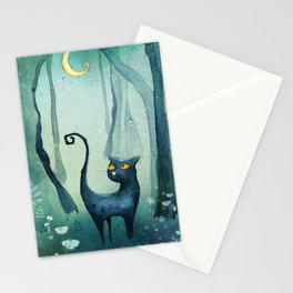 Cat in the forest Stationery Cards