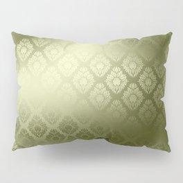 """Olive Damask Pattern"" Pillow Sham"