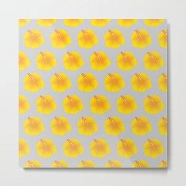 Hibiscus pattern_YA Metal Print