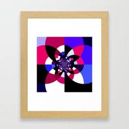 Magenta Purple Indigo Kaleidoscope Mandala Framed Art Print