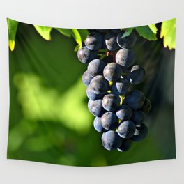 Black wine grapes Wall Tapestry