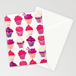 Cupcakes – Fuchsia Palette Stationery Cards