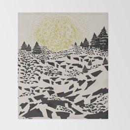 Trippy hills Throw Blanket