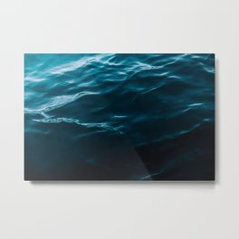 Minimalist blue water surface texture - oceanscape Metal Print