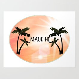 Maui, Hawaii Sunset Art Print