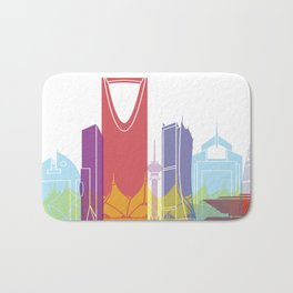 Riyadh skyline pop Bath Mat