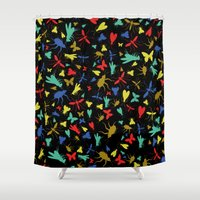insects Shower Curtains featuring Insects by Nabaa Baqir