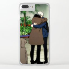 Stay Close To Me - Yuri On ice Clear iPhone Case