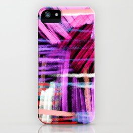 oil pastels abstract pattern iPhone Case