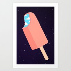 Creamsicle To Another Dimension... (inverted) Art Print