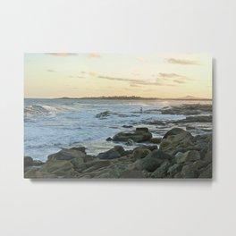 Rock Fishing: Iluka, NSW Metal Print
