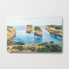 Tom and Eva Great Ocean Road Fine Art Print  • Travel Photography • Wall Art Metal Print