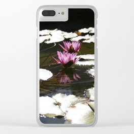 Lotus Portrait Reflection by Mandy Ramsey Clear iPhone Case