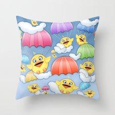 In Coming Birdies.  Throw Pillow