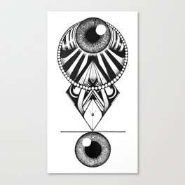 The Balence Eyes Canvas Print
