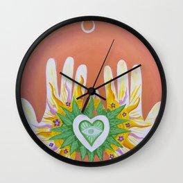 Hands Of Love Wall Clock