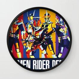Kamen Rider Den-O Squad Wall Clock