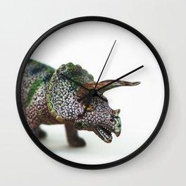 Fine Art Dinosaur Print: Triceratops Wall Clock