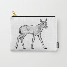 Arabian oryx calf - ink illustration Carry-All Pouch