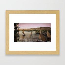 'Peaceful Sailing' Framed Art Print