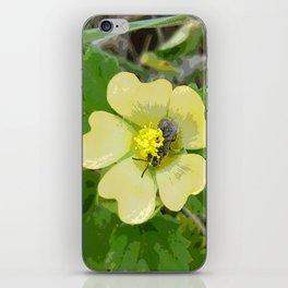 Tiny Flower, Tiny Bug iPhone Skin